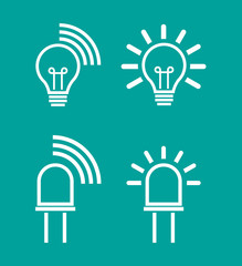 Light internet data transmission device icons
