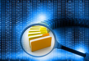 folder search concept, technology background .