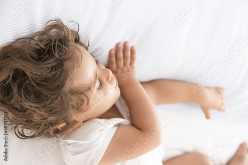 canvas print picture Baby girl sleeping