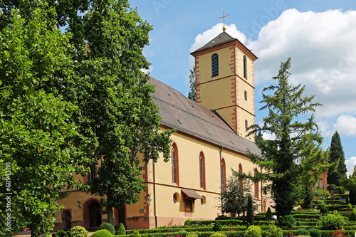 canvas print picture St. Martinskirche in Gengenbach