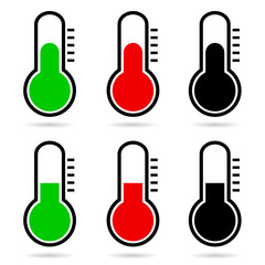 thermometer vector icon illustration