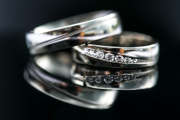 Wedding day details - two lovely golden wedding rings