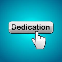 Vector dedication button concept