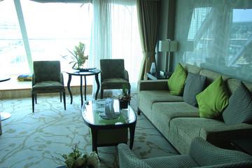 Luxurious cruise ship cabin