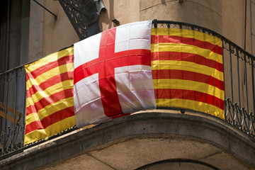 Catalonia and Barcelona Flag - Spain
