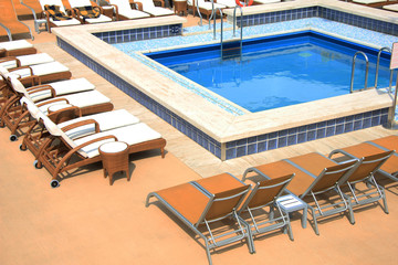 Swimming pool area at cruise ship