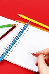 Pencil and agenda