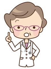 高齢女性 医師 表情