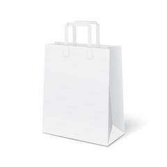 White blank paper bag