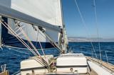 Yacht sail in the Atlantic ocean