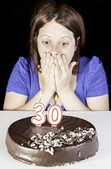 Woman in birthday