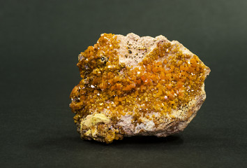 Vanadinite (vanadium ore), Djebel Mahseur, Morocco. 6.3cm across