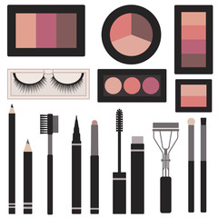 Eyes makeup vector set
