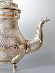 antique silver jug detail