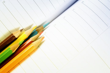 Color pencil and agenda