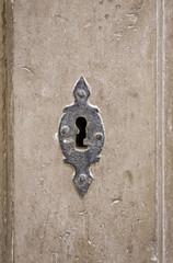 Old lock steel
