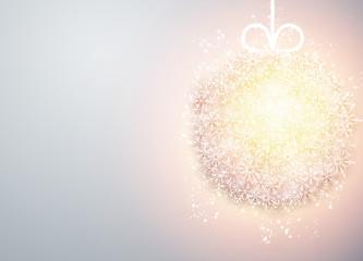 Christmas ball light abstract background.