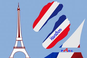 Paris  Marathon - Tour Eiffel