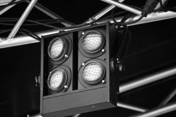 suspended stage lights
