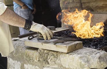 Blacksmith melting