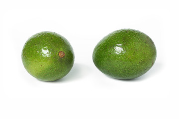 Avocados isolated on a white background with shadow