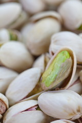 Close - up group of healthy toasted pistachios