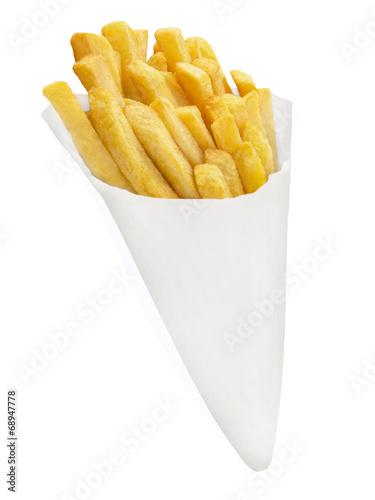 Canvas Klaar gerecht Pommes frites