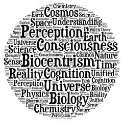 Biocentrism word cloud