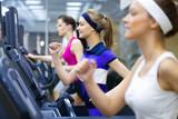 Fototapety running in gym