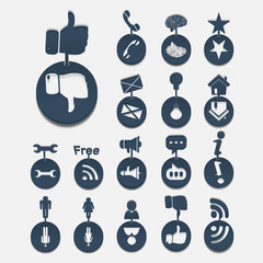 Web icons items