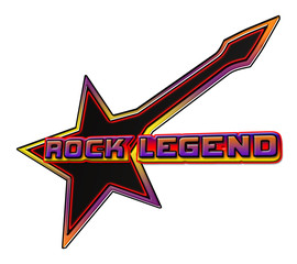 Rock Legend emblem in multicolor and black