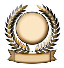 Gold Laurel Wreath award emblem