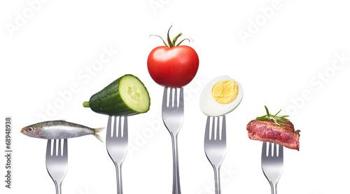 canvas print picture Ausgewogene Ernährung