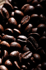 Arabica coffee beans texture