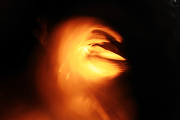 abstract golden background of fire