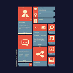 Graphic user interface vector illustration