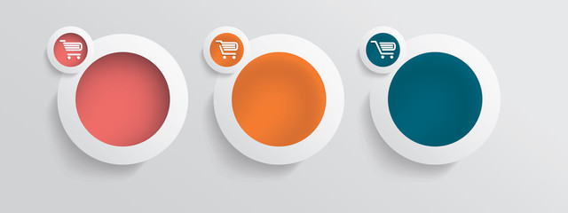Basic business online shopping vector icons
