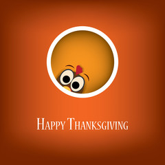 Thanksgiving card vector design with traditional turkey