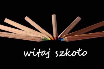back to school, buntstiffte, witaj szkolo