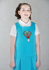 Confident Little Irish Girl