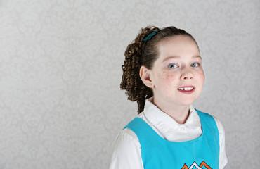 Smiling Irish Female Child