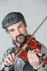 Irish Man Playing Fiddle