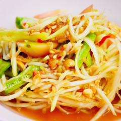 Papaya salad or Sum-Tam, Thai spicy salad