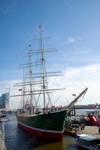 Leinwandbild Motiv Museumsschiff Rickmer Rickmers - Hamburg