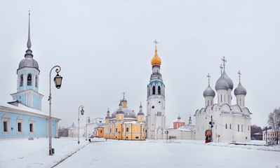 Winter orthodox kremlin