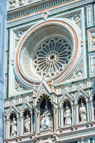 Florence 27 jul 2014 - view of cathedral SANTA MARIA DEL FIORE i Poster