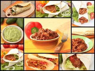 collage cuisine mexicaine