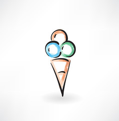 ice-cream grunge icon