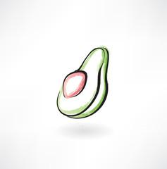 avocado grunge icon