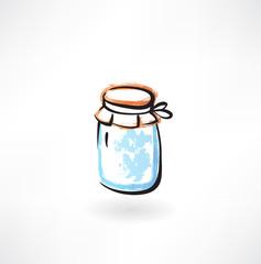 jar of jam grunge icon